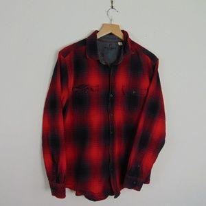 Woolrich Mens S/M Long Sleeve Collared Shirt Plaid